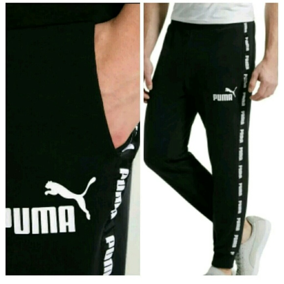 new style 1fe94 a437a Puma Power Rebel Black Cotton Sweatpants Joggers
